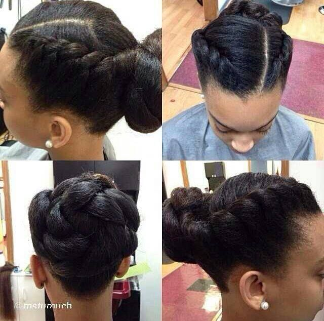 Protective style. To learn how to grow your hair longer click here - http://blackhair.cc/1jSY2ux