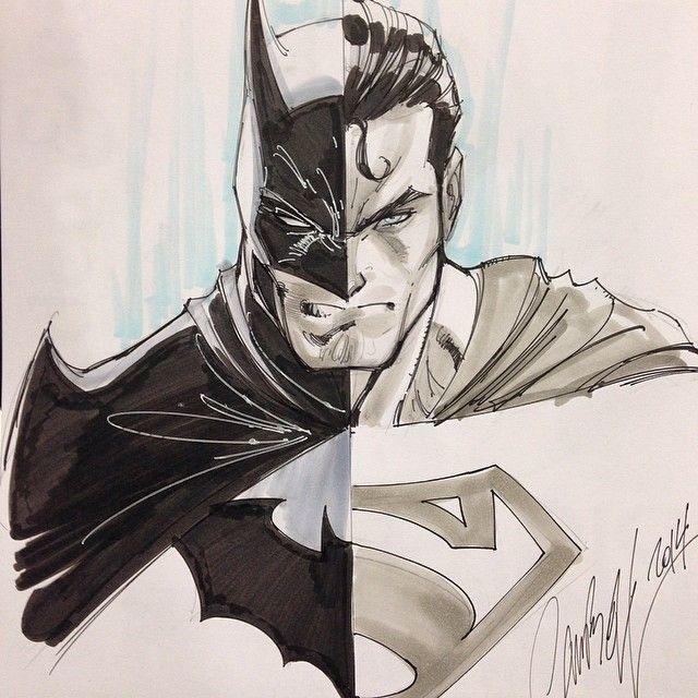 Batman/Superman from the great J. Scott Campbell! #comicbooks