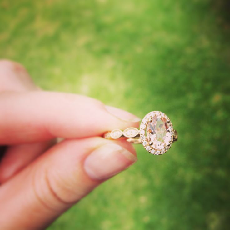 We loved making this morganite and diamond engagement ring. The rose gold scalloped band with diamonds is an unusual and pretty design: http://exclusivitybydesign.com/uncategorized/our-latest-engagement-rings/