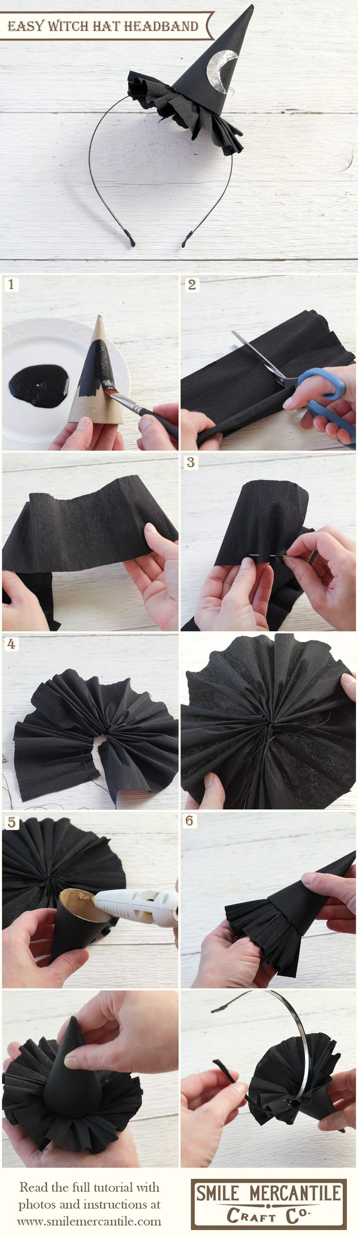 Harry Potter Bachelorette  Tutorial: Easy Witch Hat Headband... make a white one for the bride and purple/gold ones for the bridesmaids