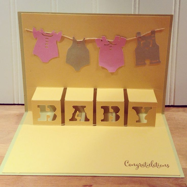 Today I have a Simple Creation that I made using the NEW Artfully Sent Cricut Collection. It is a easy Baby Pop Up Card.
