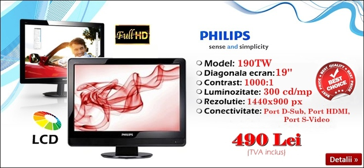 Cel mai nou lot de monitoare TV Philips a sosit! :)