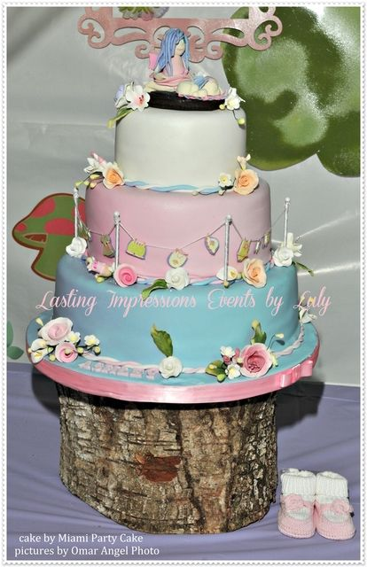 Cake at a Fairy Party #fairy #partycake