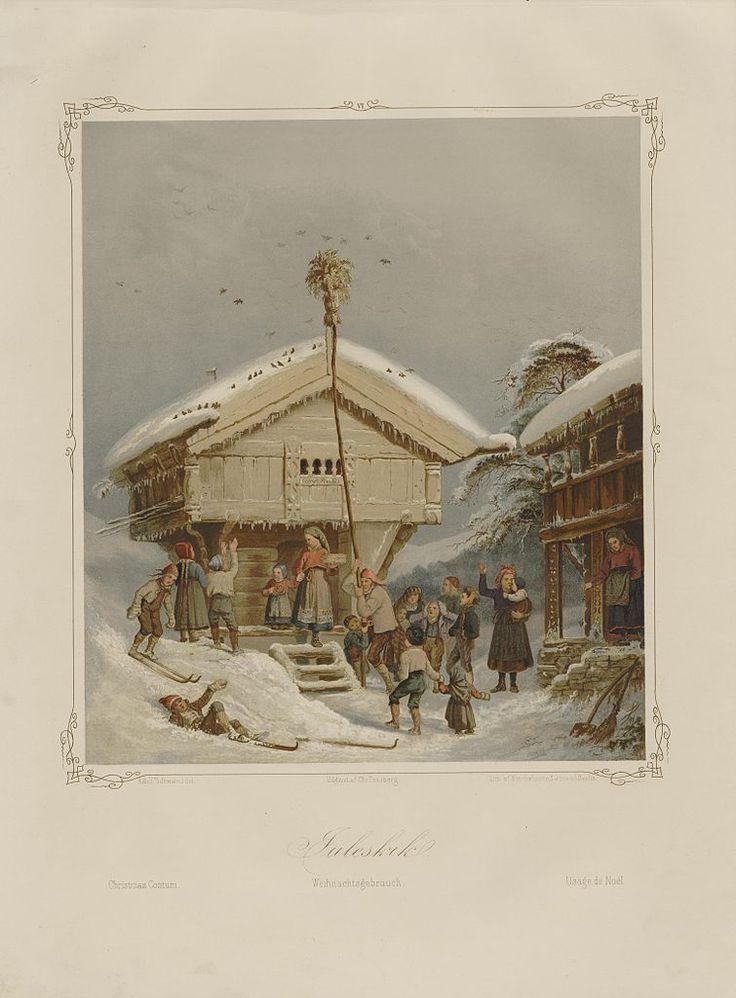 Norske Folkelivsbilleder - Adolph Tidemand - Juleskik. jpg (755×1024)