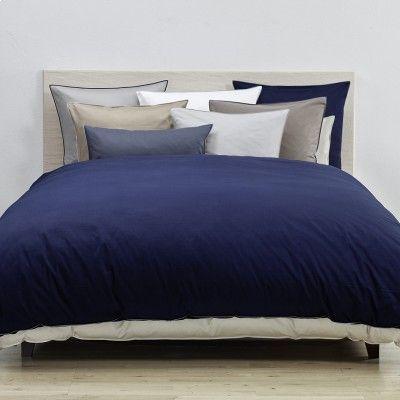 Christian Fischbacher  Dekbedovertrek Satin de luxe A17 Kwaliteit :satijn  Kleur:blauw ,wit,grijs,antracite,wit,taupe