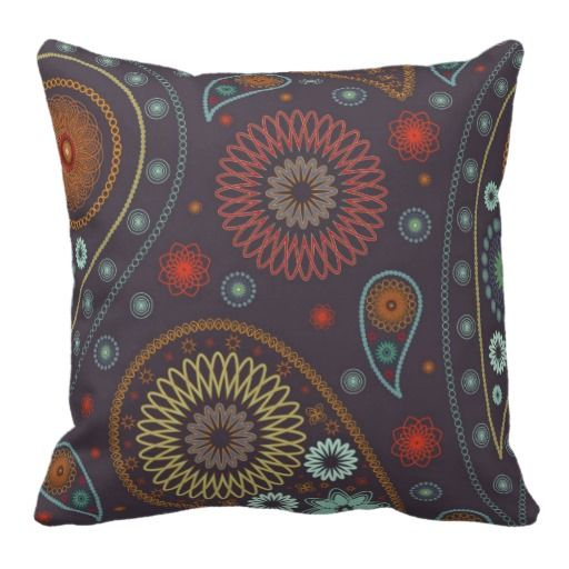 Personalized paisley pattern design throw pillows