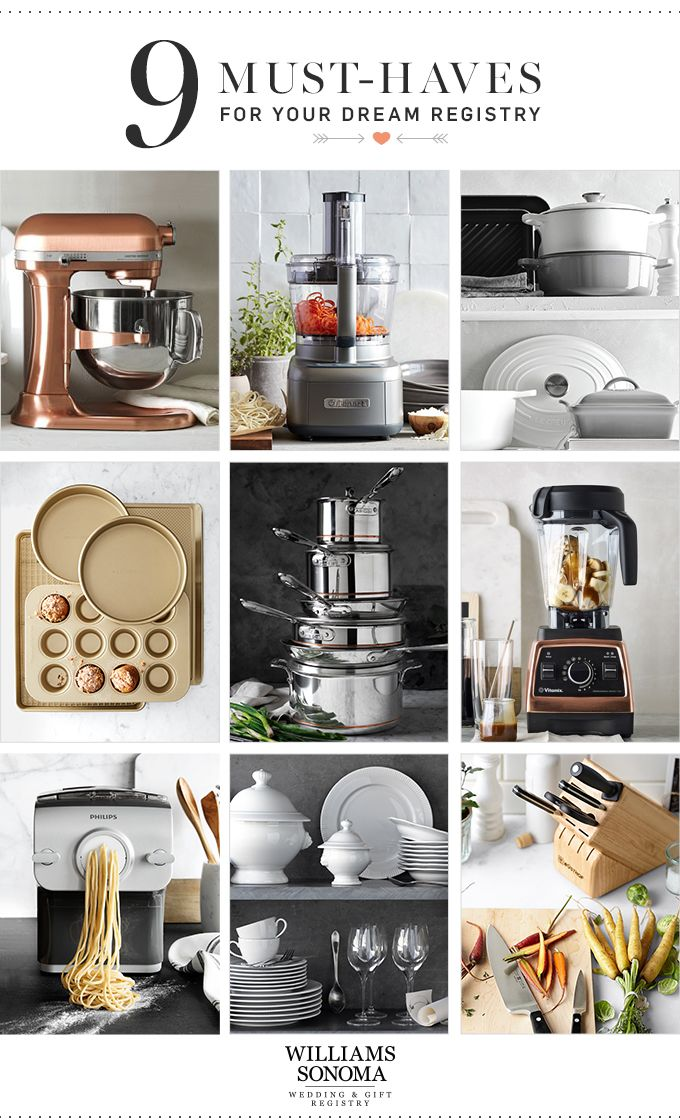 Wondering where to start? These 9 registry favorites will help you get quick start on your dream kitchen.