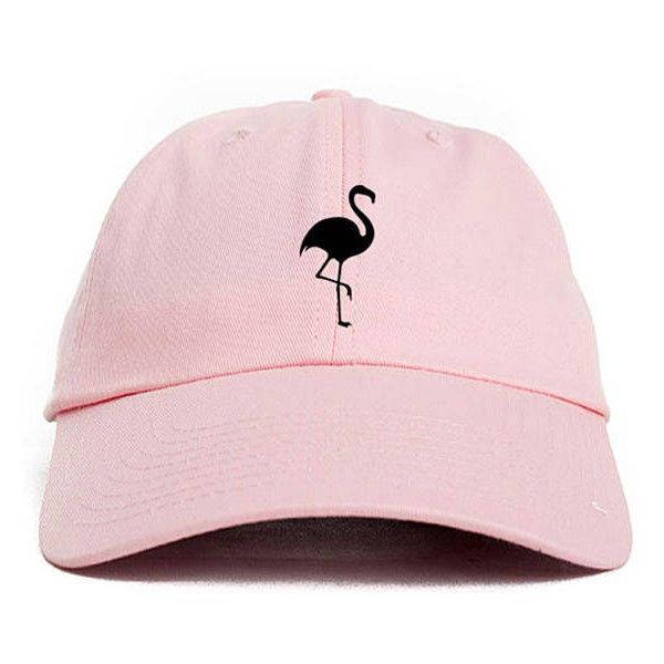 Flamingo Dad Hat Adjustable Baseball Cap New Pink ( 14) ❤ liked on Polyvore  featuring accessories 2c7b2a3e639