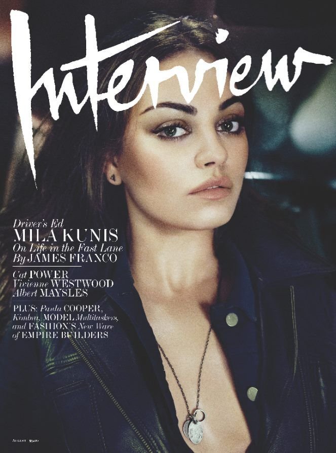 Mila Kunis Covers The August 2012 Issue Of Interview Magazine (PHOTOS)