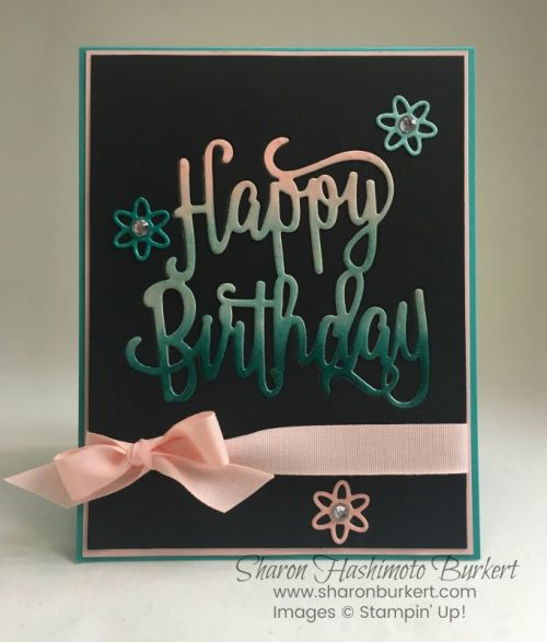 Happy Birthday Thinlits and the Try Stampin' on Tuesday Challenge