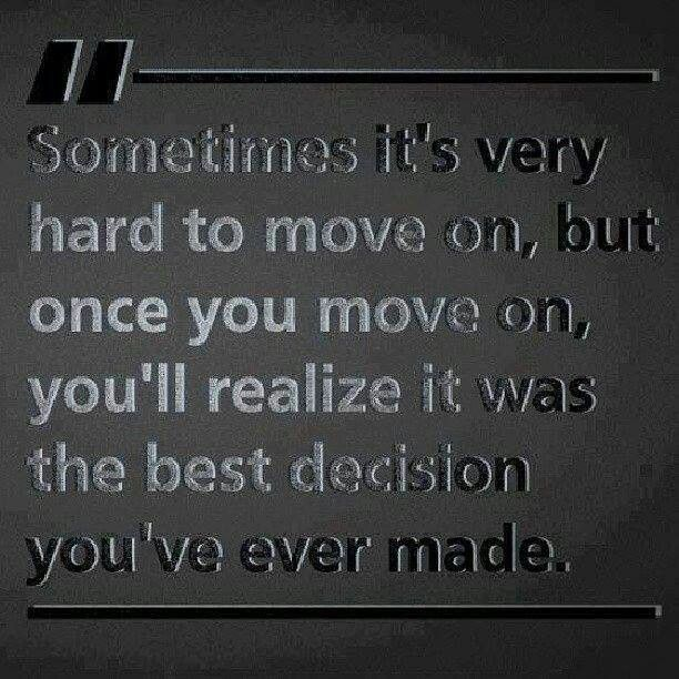 Move on seems to be the hardest word to do