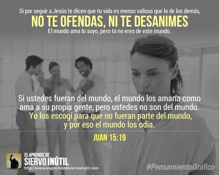 #PensamientoGráfico - No te ofendas ni te desanimes