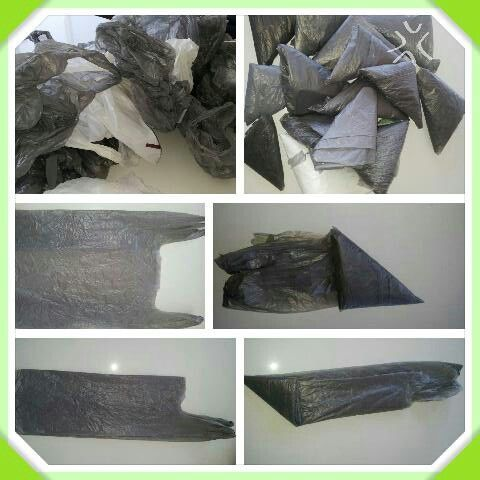 Plastic Bag Folding. Tidy shopping bags. Storage easy when folding your bags