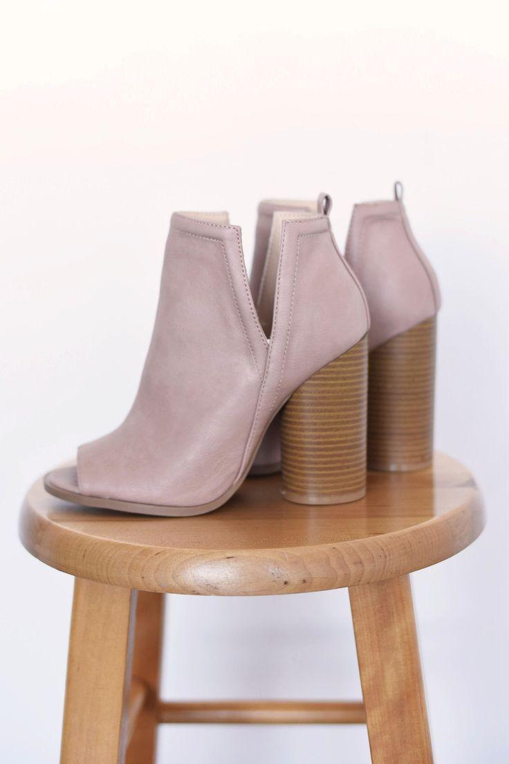 Blush Peep Toe Booties - Dottie Couture Boutique