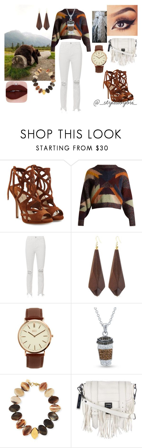 """Dipped In Honey With Little Brown Bear"" by fashionbookofbri ❤ liked on Polyvore featuring Paul Andrew, Isabel Marant, L'Agence, Kenneth Jay Lane, BKE, Belk Silverworks, Ashley Pittman and Proenza Schouler"