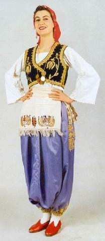 Turkish folkloric performance costume