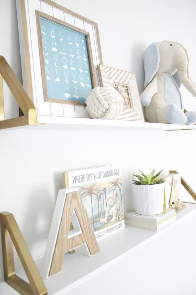 Gold Standard Wall Shelves Styled to Perfection in an Ocean-Inspired Nursery