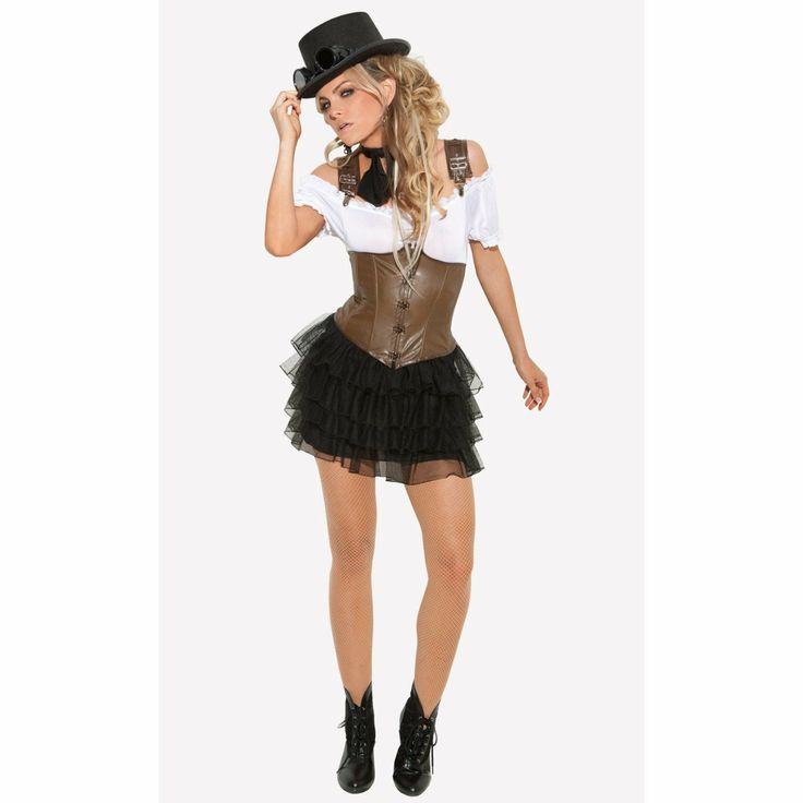 Amazon.com: Elegant Moments - Racy Steampunk Rose Adult Costume: Clothing