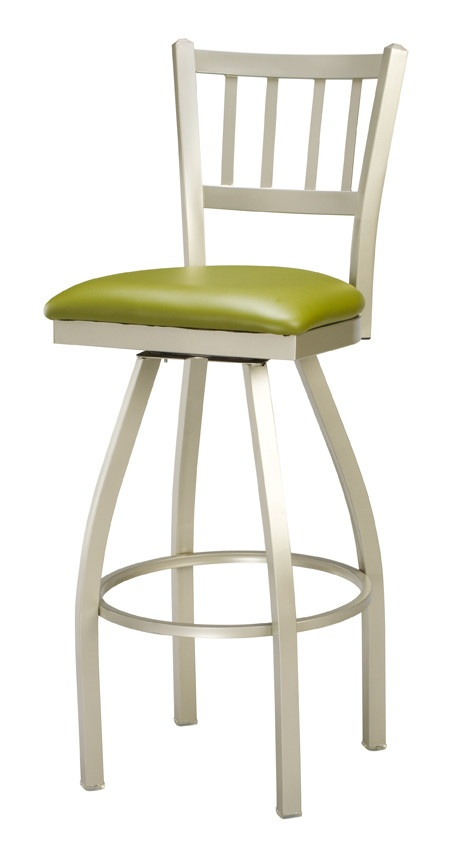 swivel metal counter stool with upholstered seat let the regal jailhouse 26 in swivel metal counter stool with upholstered seat bring a blend of styles