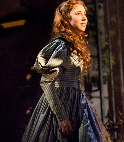 Samantha Hill as Cosette in Les Miserables. #AHeartFullOfLove