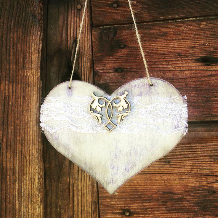#FidArt #handmade #heart #woodenheart #shabbychic #vintage