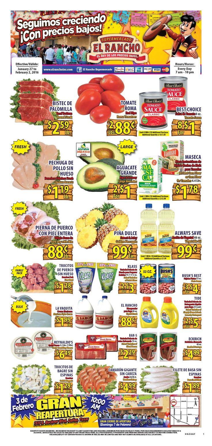 El Rancho Weekly Ad January 27 - February 2, 2016 - http://www.kaitalog.com/el-rancho-weekly-ad.html