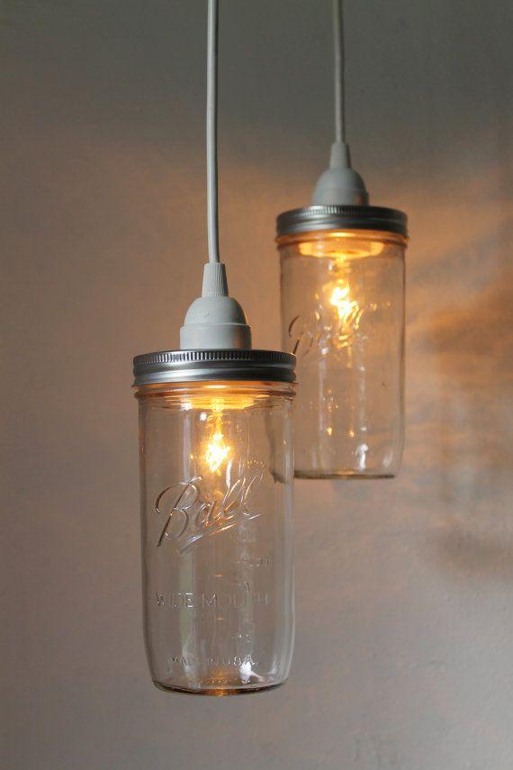 stargaze set of 2 hanging mason jar pendant lights by bootsngus