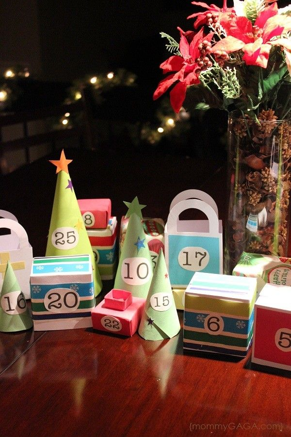 Countdown To Christmas DIY Paper Christmas Advent Calendar Village