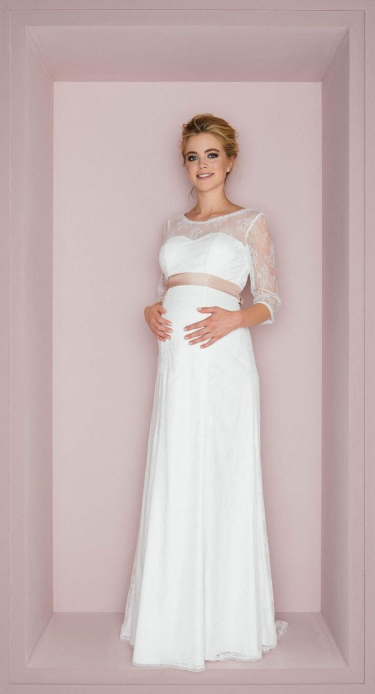 schwanger im Hochzeitskleid - Hochzeit  Brautkleid schwanger