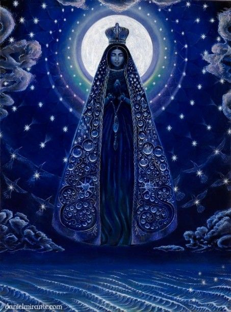 themagicfarawayttree:  Maria aparacida, the Virgin Mary that appeared to some brazilian fishermen lost at sea.