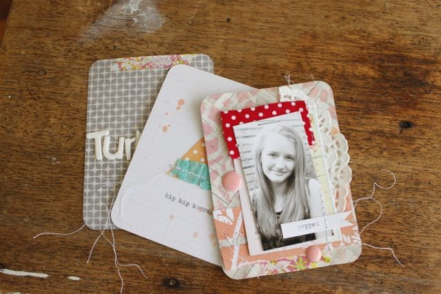 Project Life cards by Kim Archer. As seen in Issue 6 of Jot Magazine