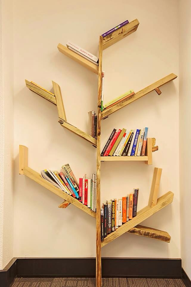 Recycled Timber tree bookshelf. Made to order and we ship Australia wide