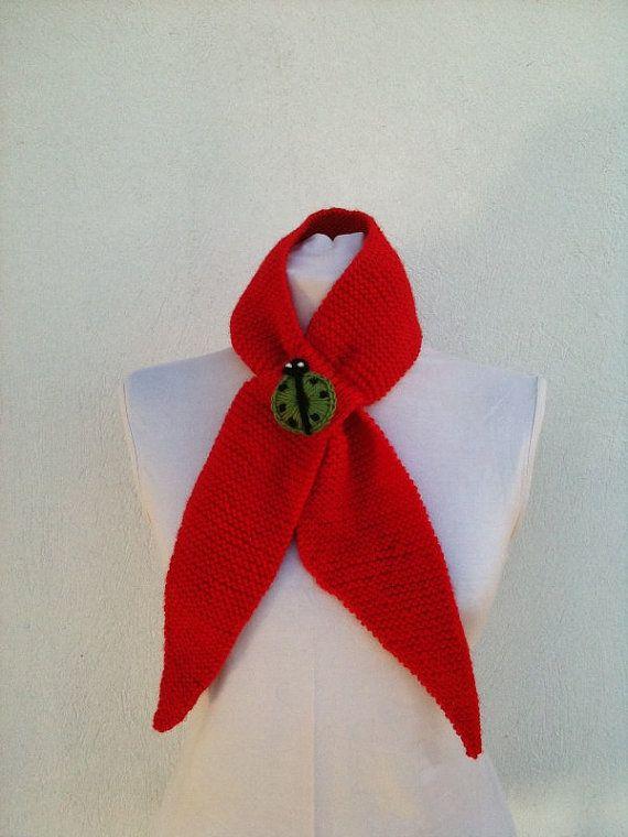 Red handknitting fancy scarf by NesrinArt on Etsy, $20.00: Sassy Scarfs, 20 00, Red Handknit, Handknit Fancy, Fabulous Clothing, Fancy Scarfs, Pin Scarves, Pendants Options, 2000