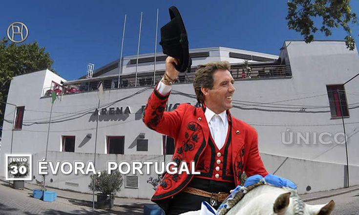 El espectacular escenario de la Arena Évora recibe este viernes al torero a caballo de Estella, en un festejo de máxima expectación.