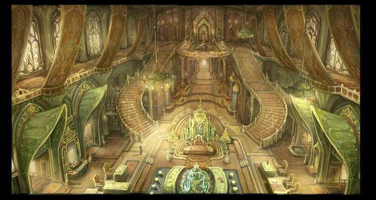 Grand Elven Hall Stairs Banquet Hall Fantasy