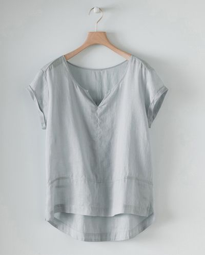 Image of Short Sleeved Hemp Top