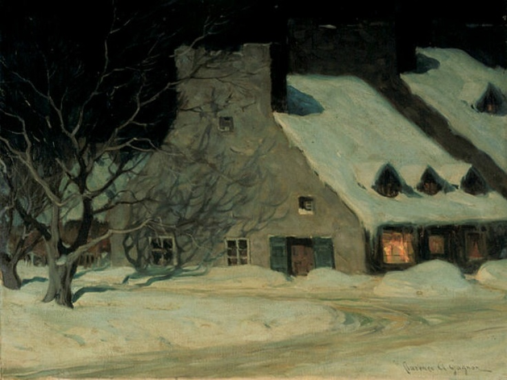 """Street Scene, Quebec at Night"" by Clarence Gagnon, c. 1917 Follow the biggest…"
