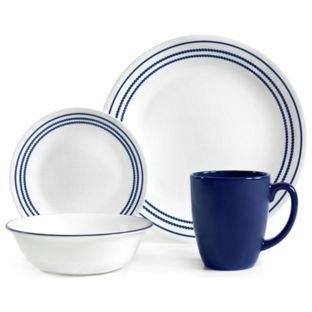 Update Your Dining Decor With The Corelle Livingware Onyx Black Dinnerware  Set. This Set Provides Service For Four, And Features A Simple, Classic  Design ...