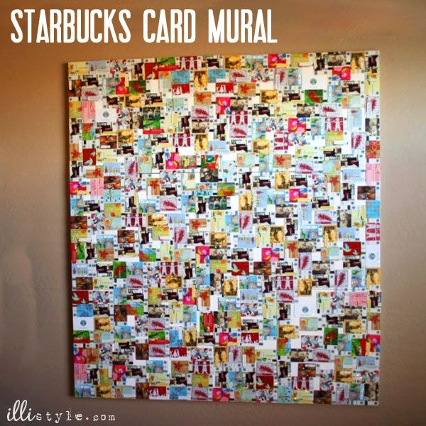 Starbucks Card Mural - illistyle.com