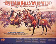 Affiche du Buffalo Bill Show. Wikipedia
