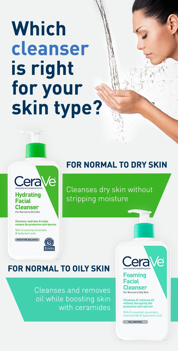 CeraVe cleansers do more than just clean your skin. They contain an exclusive combination of vital ceramides healthy skin needs. Supplement your body's natural ceramides when you add Hydrating Facial Cleanser or Foaming Facial Cleanser to your skincare routine.
