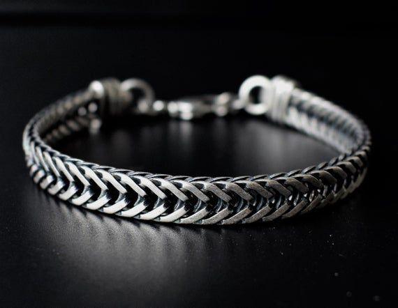 Mens Silver Bracelet Men Bracelet Mens Chain Bracelet | Etsy | Mens chain  bracelet, Mens bracelet silver, Bracelets for men