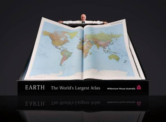 Earth Platinum Limited Edition, the largest atlas in the world, published by Millennium House Australia