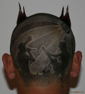 Hair Tattoos by Oojufink, Cardigan, UK! Hair tattoos