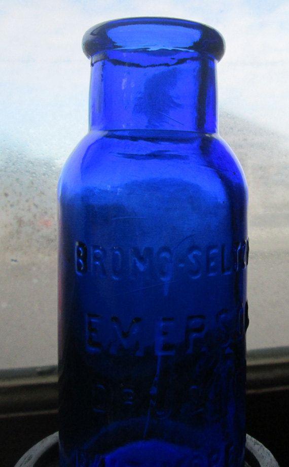 Vintage Cobalt Blue Emerson Drug Co Baltimore Maryland