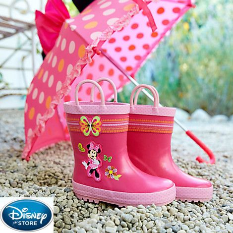 was $24.95 now $12.99 how cute for Easter Minnie Mouse Clubhouse Rain Boots for Kids on Saveful.com