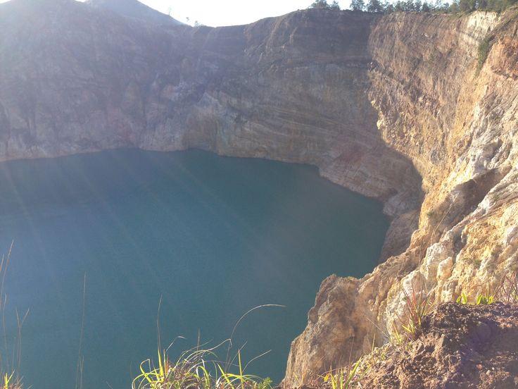 Crater lake Kile Mutu volcano, Flores