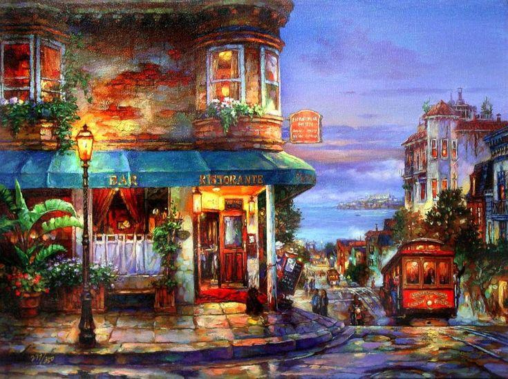 Cao Yong, 1962 ~ Romantic cityscapes | Tutt'Art@ | Pittura * Scultura * Poesia * Musica |