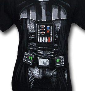 Darth Vader Costume T-Shirt Close Up