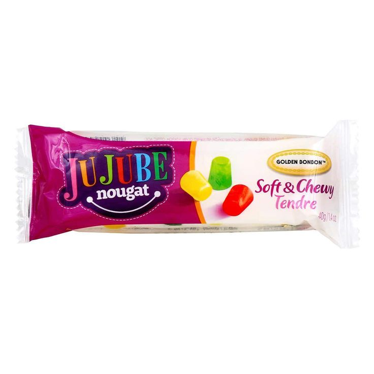 Jujube Nougat Bar for just $1.95. . . . #Chocolate #CandyBuffet #PartyFavors #Sweets #Taffy #GummyBears #SourCandy #Caramel #DarkChocolate #BulkCandy #OnlineCandyStore #Canada #OnlineCandy #Gifts #Candy